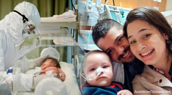 Bebé que estuvo 32 días en coma vence al coroanvirus tras oración de sus padres
